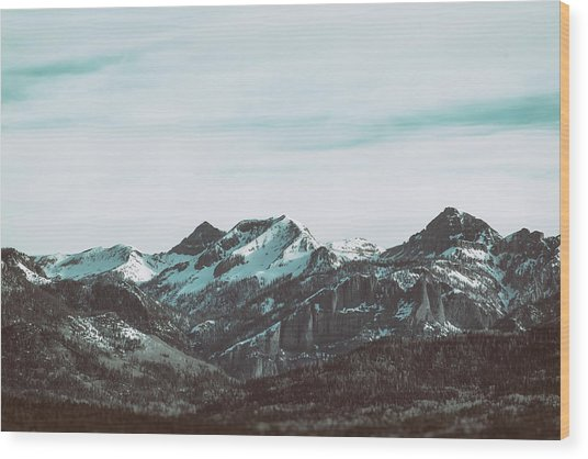 Saddle Mountain Morning Wood Print