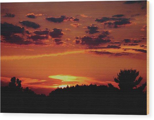 Sadie's Sunset Wood Print