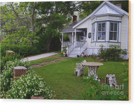 Safe Haven House Southport Wood Print