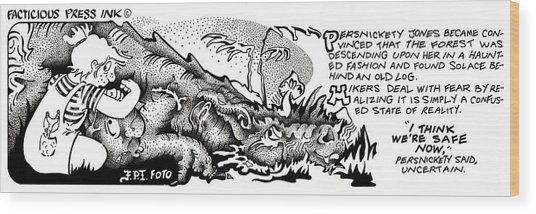 Safe Now Fpi Cartoon Wood Print