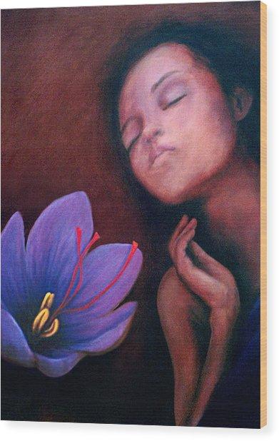 Saffron Wood Print by Patricia  Dees