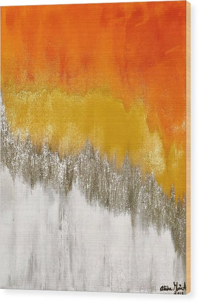 Saffron Sunrise Wood Print