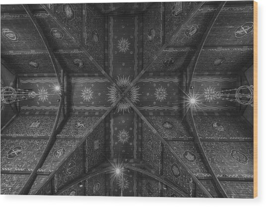 Sage Chapel Ceiling #3 - Cornell University Wood Print