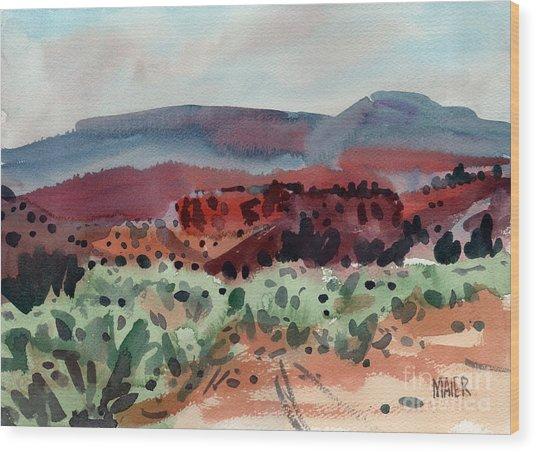 Sage Sand And Sierra Wood Print
