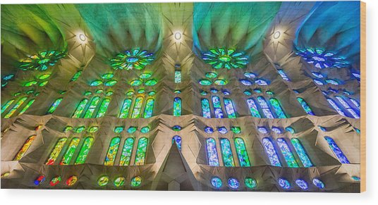 Sagrada Familia Northeast Wall Barcelona Wood Print