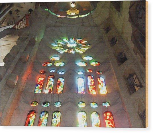 Sagrada Familia Wood Print by Patrick Rabbat