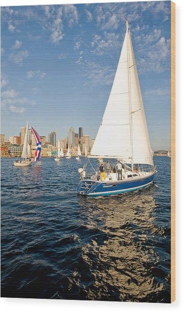 Sail Away Wood Print by Tom Dowd