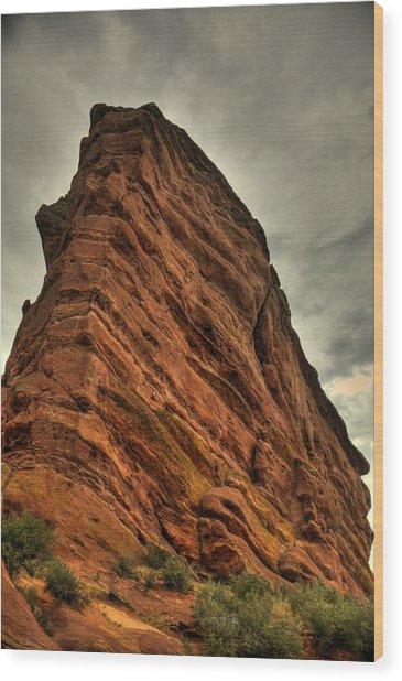 Sail Rock Wood Print by Patrick  Flynn