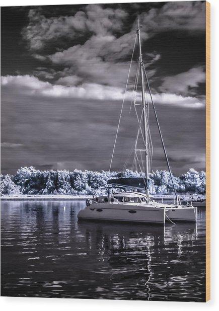 Sailboat 02 Wood Print