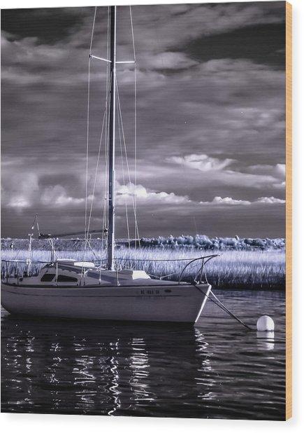 Sailboat 03 Wood Print