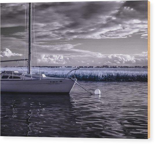 Sailboat 04 Wood Print