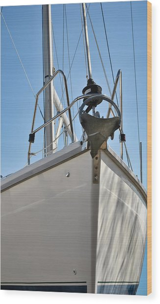 Sailboat Bow 3 Wood Print