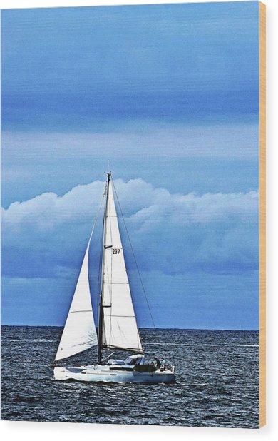 Sailboat No. 143-1 Wood Print