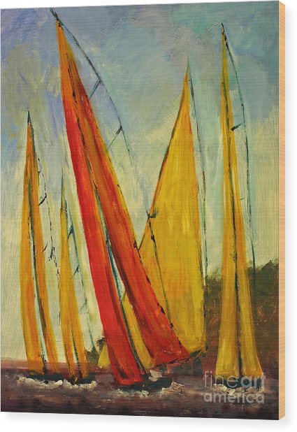 Sailboat Studies 2 Painting by Julie Lueders