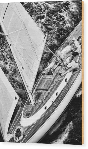 Sailing A Classic Wood Print