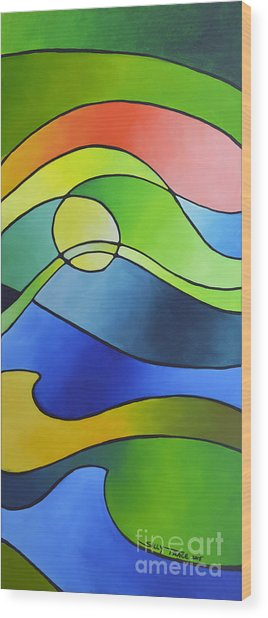 Sailing Away, Canvas Three Wood Print