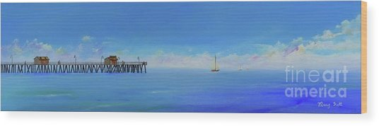 Sailing By San Clemente Wood Print