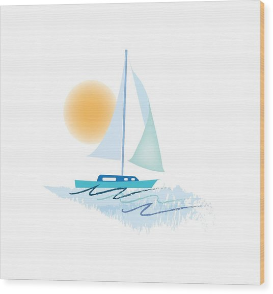 Sailing Day Wood Print