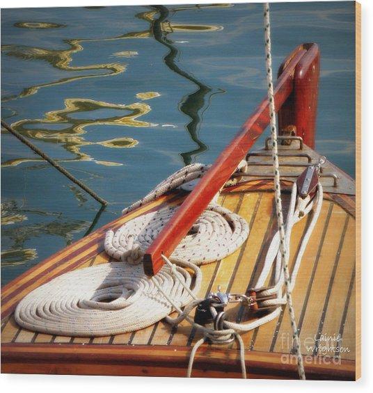 Sailing Dories 4 Wood Print