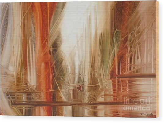 Sailing Wood Print by Fatima Stamato