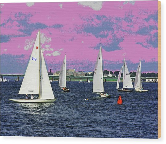 Sailing Fun Wood Print