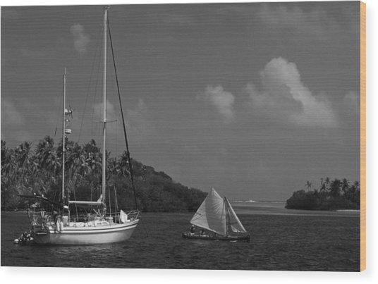 Sailing In The San Blais Islands Wood Print