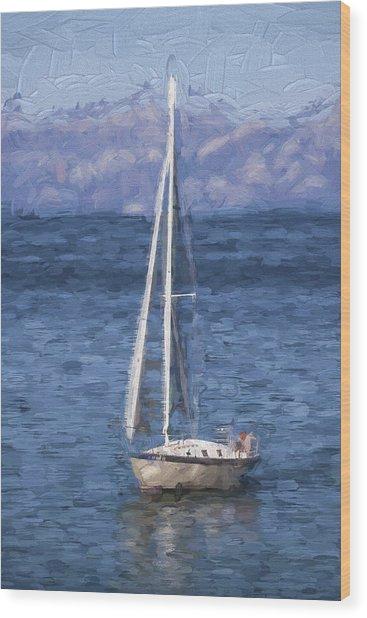 Sailing Lake Tahoe Wood Print