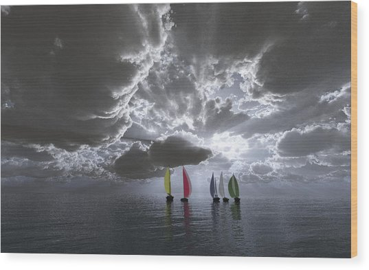 Sailing Wood Print by Margaret Wingstedt