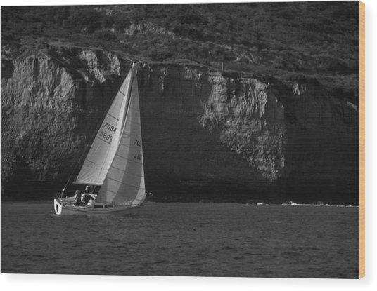 Sailing Off Southern California Wood Print