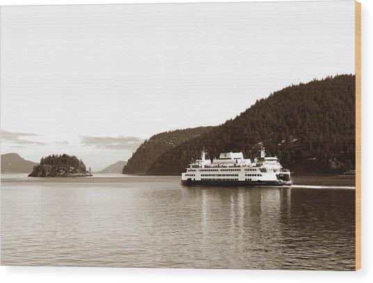 Wood Print featuring the photograph Sailing The San Juan Islands by Lorraine Devon Wilke