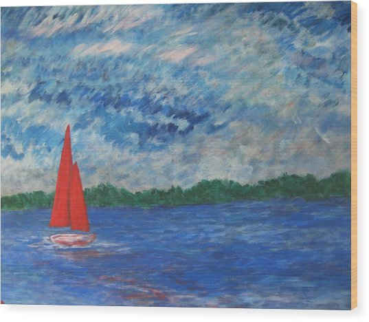 Sailing The Wind Wood Print