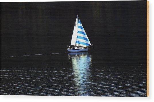 Sailing Wood Print by Tiffany Vest