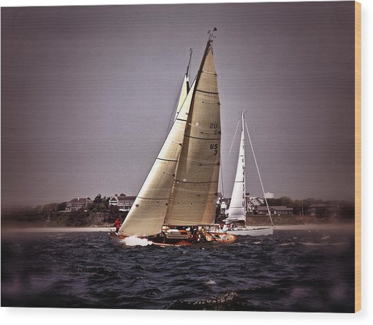 Sailing To Nantucket 005 Wood Print