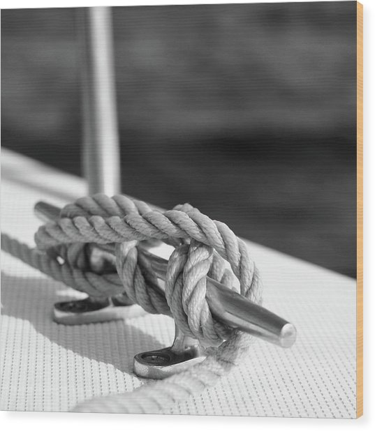 Sailor's Knot Square Wood Print