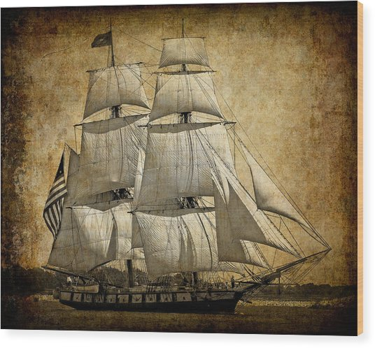 Sails Full And By Wood Print