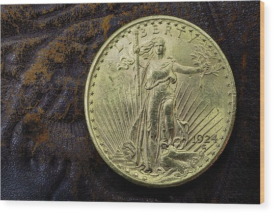 Saint Gaudens Gold Wood Print by JC Findley