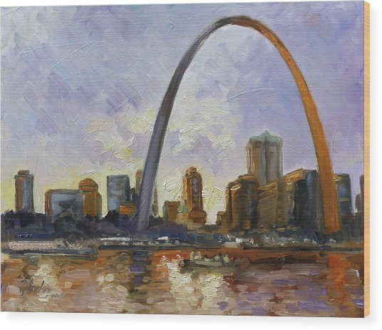 Saint Louis Skyline 3 Wood Print