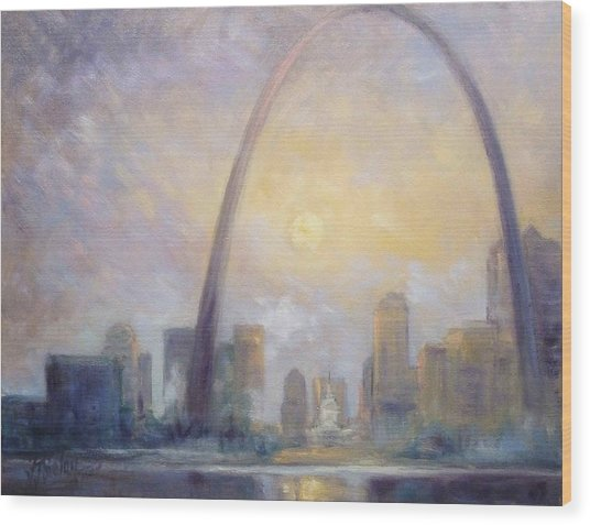 Saint Louis Skyline - Frosty Day Wood Print