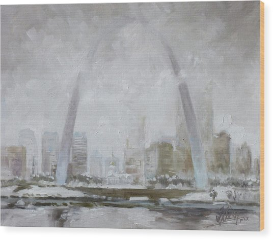 Saint Louis Winter Day Wood Print