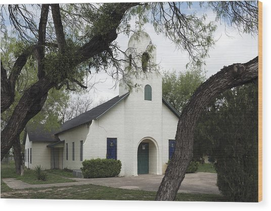 Saint Miguel Archangel Catholic Church In Little Los Ebanos Wood Print