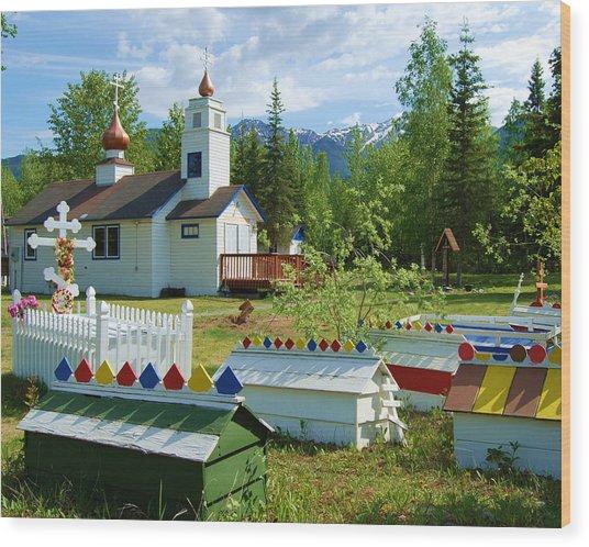 Saint Nicholas Orthodox-eklutna Alaska Wood Print