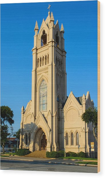 Saint Patrick Catholic Church Of Galveston Wood Print