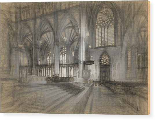 Saint Patrick's Cathedral In New York City Wood Print