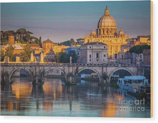 Saint Peters Basilica Wood Print
