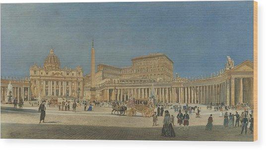 Saint Peter's Rome Wood Print