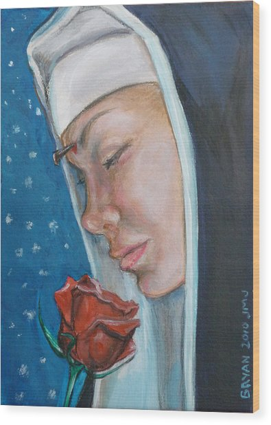 Saint Rita Of Cascia Wood Print