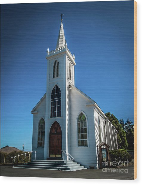 Saint Teresa Of Avila Church - Bodega, Sonoma County Wood Print