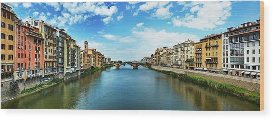 Saint Trinity Bridge From Ponte Vecchio Wood Print