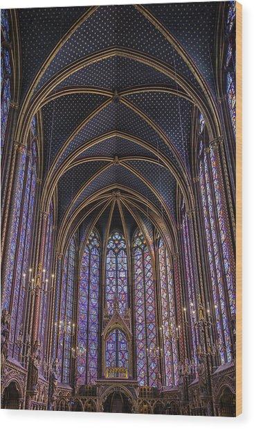 Sainte Chapelle Stained Glass Paris Wood Print