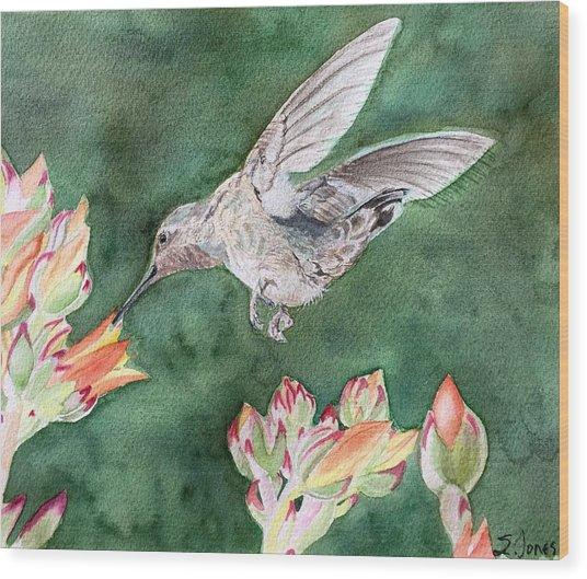 Saki's Visit Wood Print